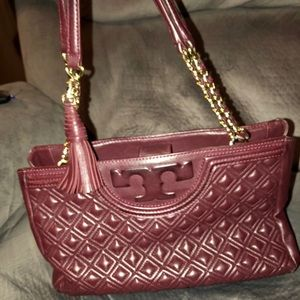 Tory Burch Fleming Open Shoulder Tote